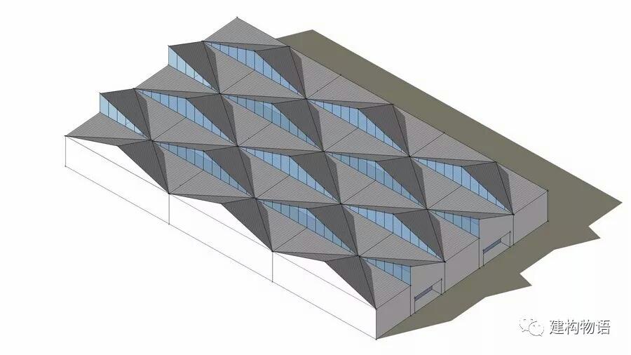 采用PMMA面板、索网支承结构的采光顶 采光顶面板的固定方式常有类似于玻璃幕墙的明框、结构胶粘隐框、半隐框框支承系统、点支式支撑系统等。 采光顶可用于封闭空间,也可用于需要遮挡风雨的非封闭空间。 采光顶的支承结构 采光顶的支承结构常有传统的钢筋混凝土、钢(桁架)梁式结构、单层或双层网架结构、索网结构等。  传统的钢筋混凝土井字梁结构,自然地将采光顶分割为众多的单元,更易于处理排水。虽然通透性较更为纤细的金属结构差,但形式更为规整。  传统建筑街区街道上空后加的采光顶,采用钢桁架支承结构,线条较多,但与古典