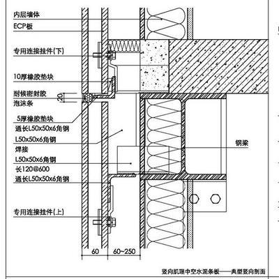 典型的厚型中空水泥板构造示意图