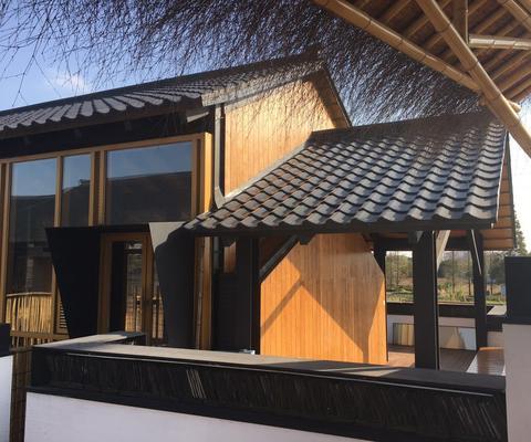 重竹木装饰板(竹钢板)竹格栅,竹木基材竹木屋景观竹栏杆