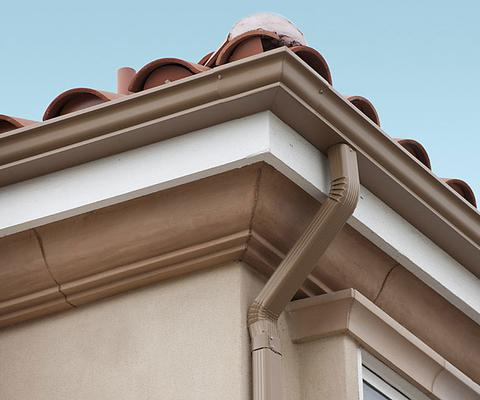 2.0mm厚高档彩铝成品天沟、檐沟、别墅落水系统
